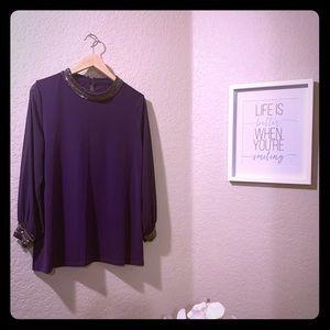 Alfani PXL Elegant Purple Blouse